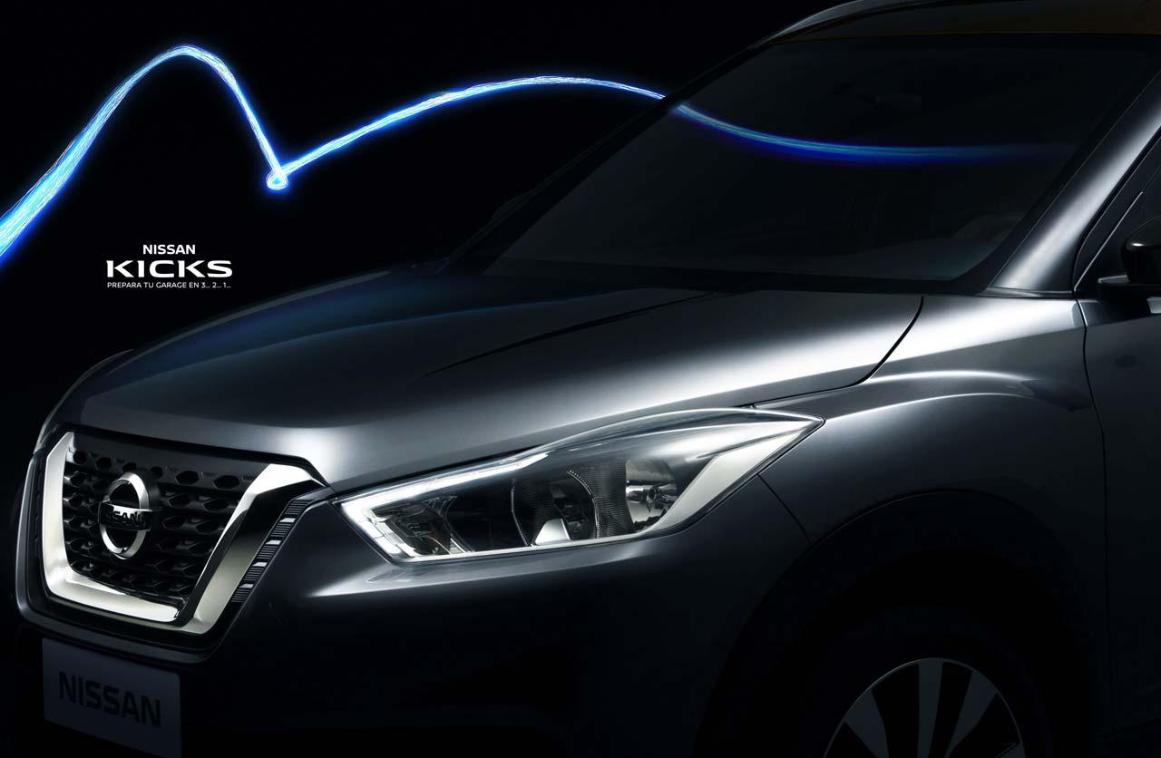 Así es el sector frontal del Nissan Kicks de producción