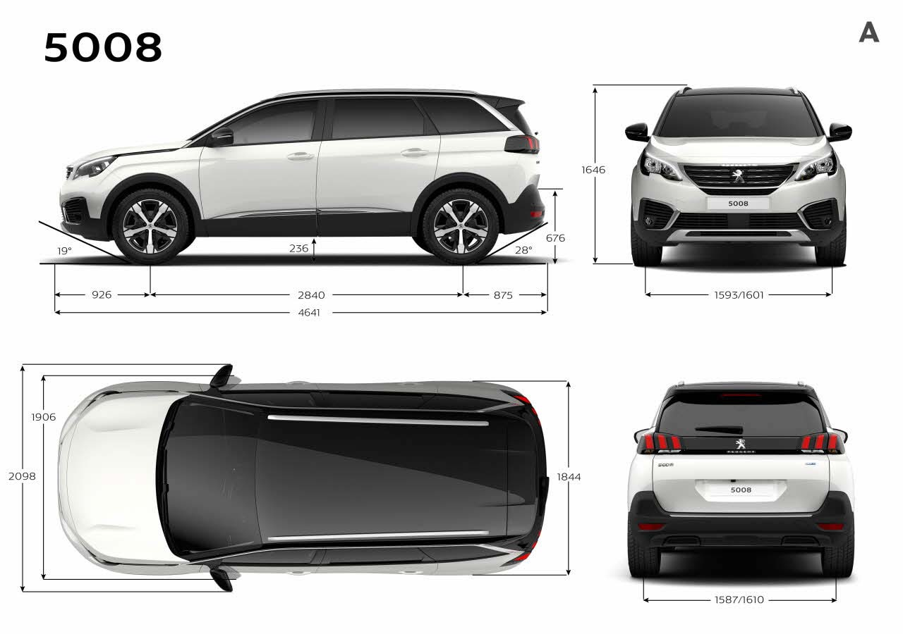 el nuevo peugeot 5008 ahora es un suv con siete plazas mega autos. Black Bedroom Furniture Sets. Home Design Ideas