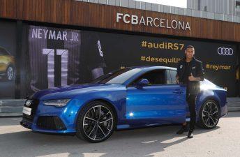 Los nuevos Audi de los jugadores del FC Barcelona