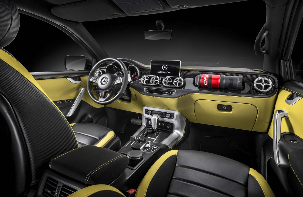 Interior Mercedes-Benz Clase X powerful adventurer