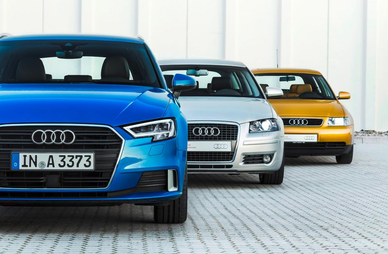 Audi A3 tres generaciones