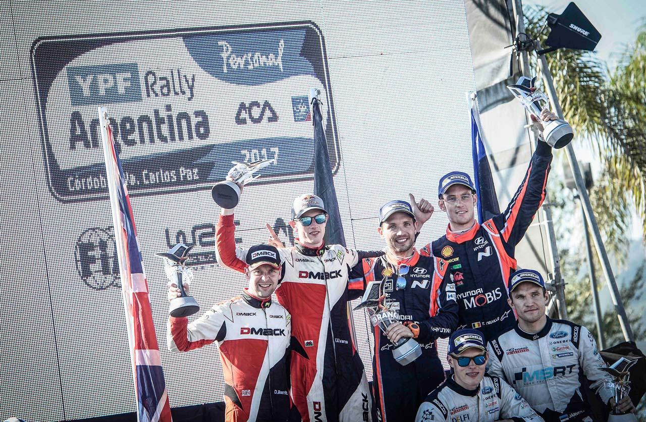Rally Argentina 2017. Victoria de Neuville (Hyundai)