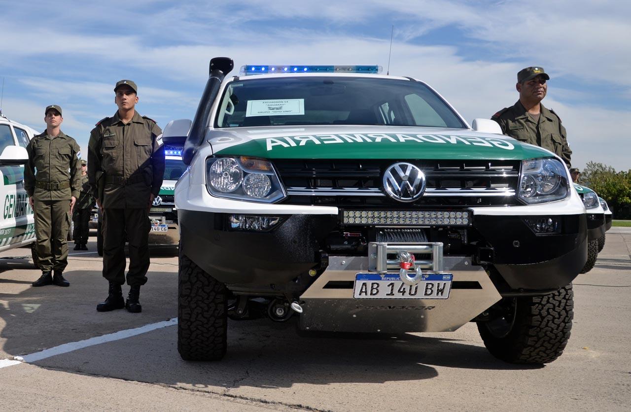 Así son las VW Amarok de Gendarmería Nacional