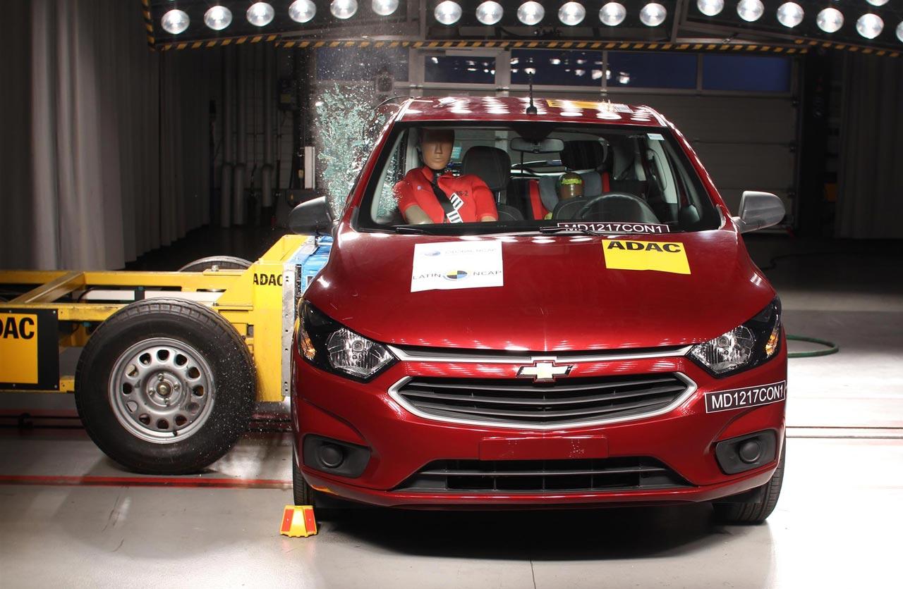 Latin NCAP Chevrolet Onix 0 estrellas