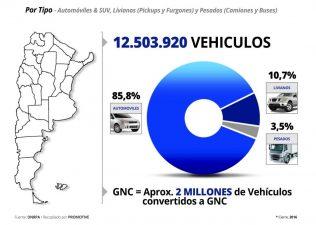 Circulan en Argentina más de 12,5 millones de vehículos