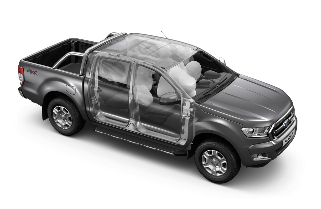 Nueva Ford Ranger 7 airbags