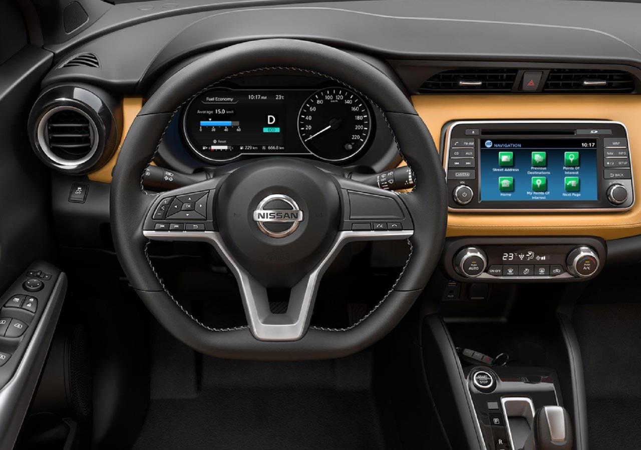 Interior Naranja Nissan Kicks