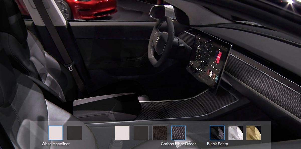 Model 3 tesla ya produce su nuevo modelo el ctrico mega for Tesla model 3 interieur