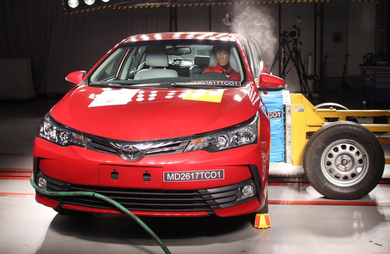 Toyota Corolla crash test Latin NCAP 2017