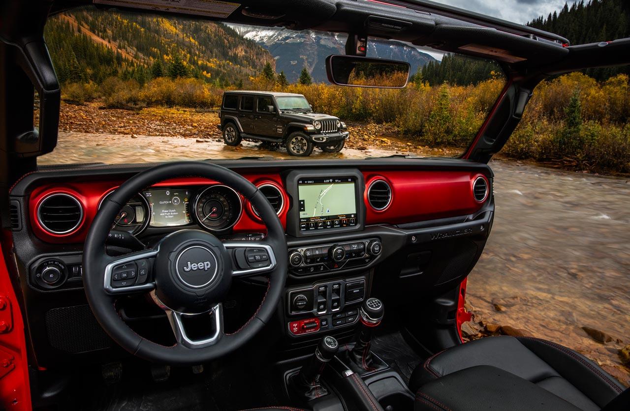 Interior nuevo Jeep Wrangler
