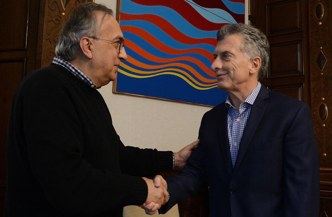 Sergio Marchionne, CEO de FCA, se reunió con el Presidente Mauricio Macri