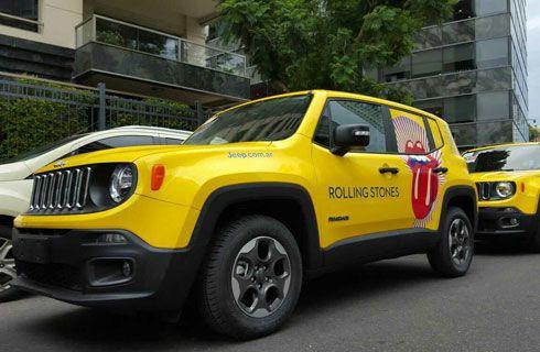 El Jeep Renegade acompaña a los Rolling Stones en Buenos Aires