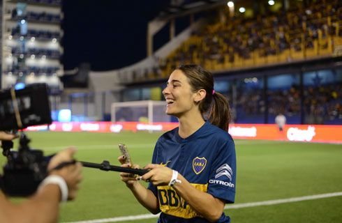 Juana Viale se escapó a la Bombonera con el Nuevo C3 Aircross