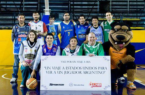 Sprinter acompaña la pasión de los fanáticos del básquet argentino