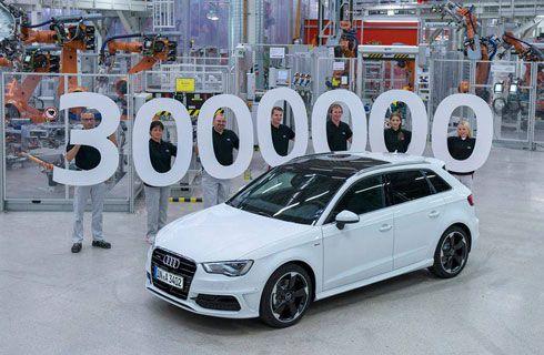 El Audi A3 alcanzó las 3.000.000 de unidades