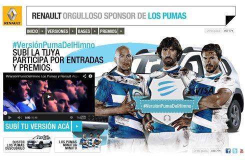 Renault premia la garra y pasión de los fanáticos de Los Pumas