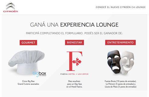 "Concurso ""Experiencias Citroën C4 Lounge"""