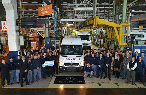 Mercedes-Benz fabricó 250.000 Sprinter en Argentina