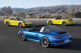 Porsche renovó los 911 Carrera 4 y Targa 4
