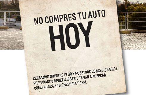 General Motors cierra sus concesionarios en el país por un día