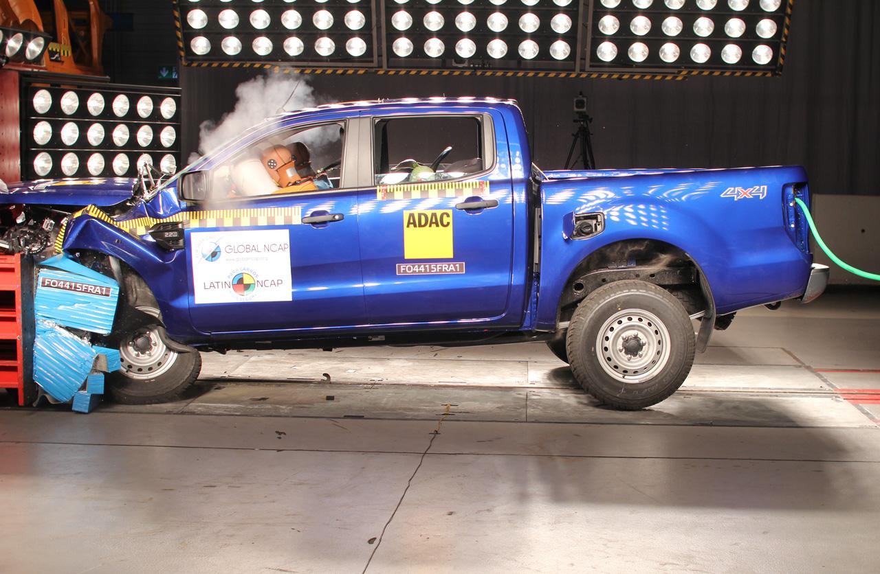 Tres estrellas de Latin NCAP para la renovada Ford Ranger