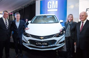 General Motors inauguró la línea de producción del Nuevo Chevrolet Cruze