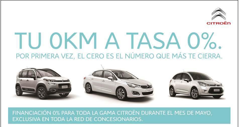 Citroën con financiación a tasa 0