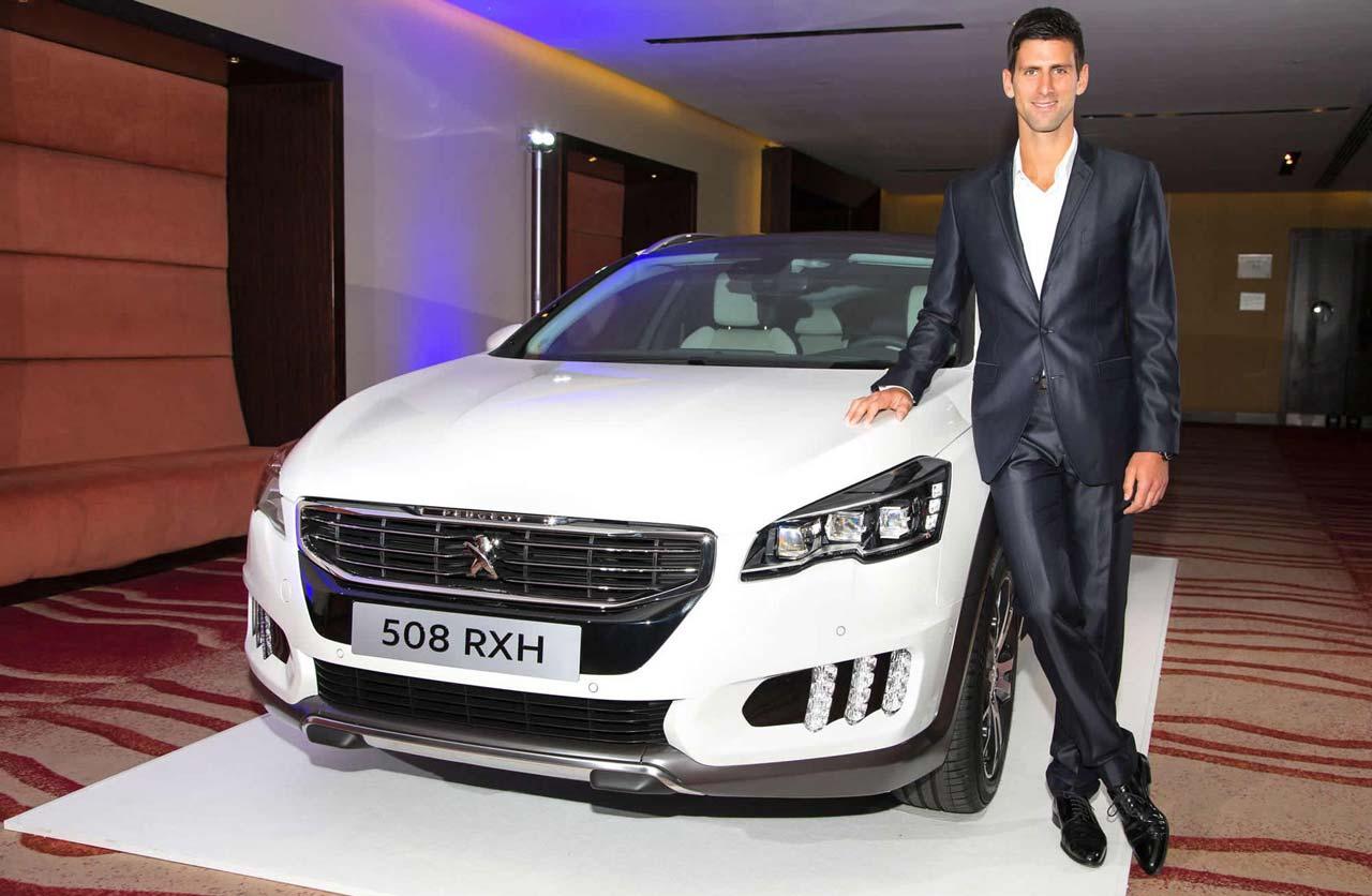 Novak Djokovic Peugeot 508 RXH