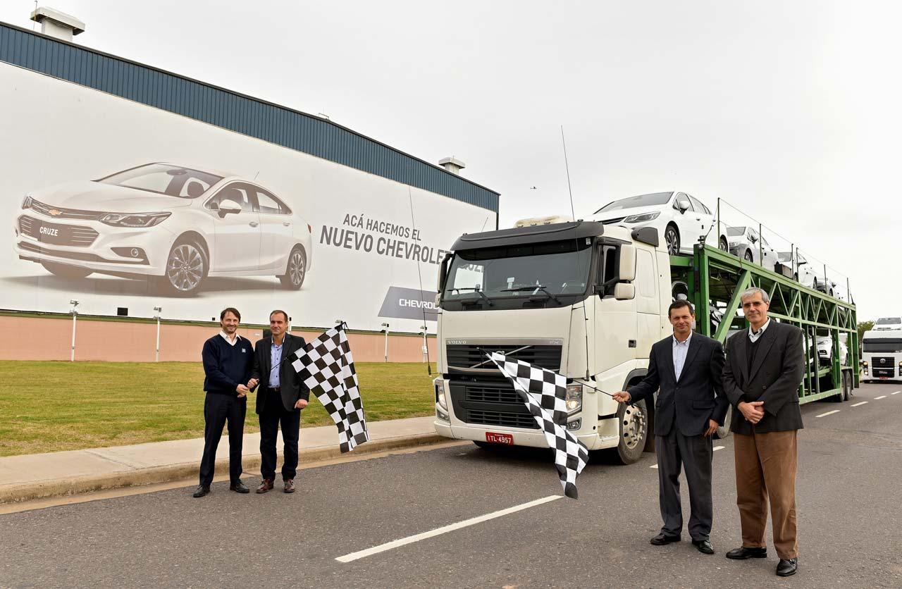 GM Argentina inicia la exportación del nuevo Chevrolet Cruze a Brasil