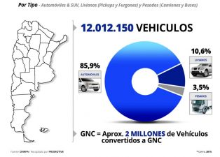 El parque circulante en Argentina supera los 12 millones de vehículos