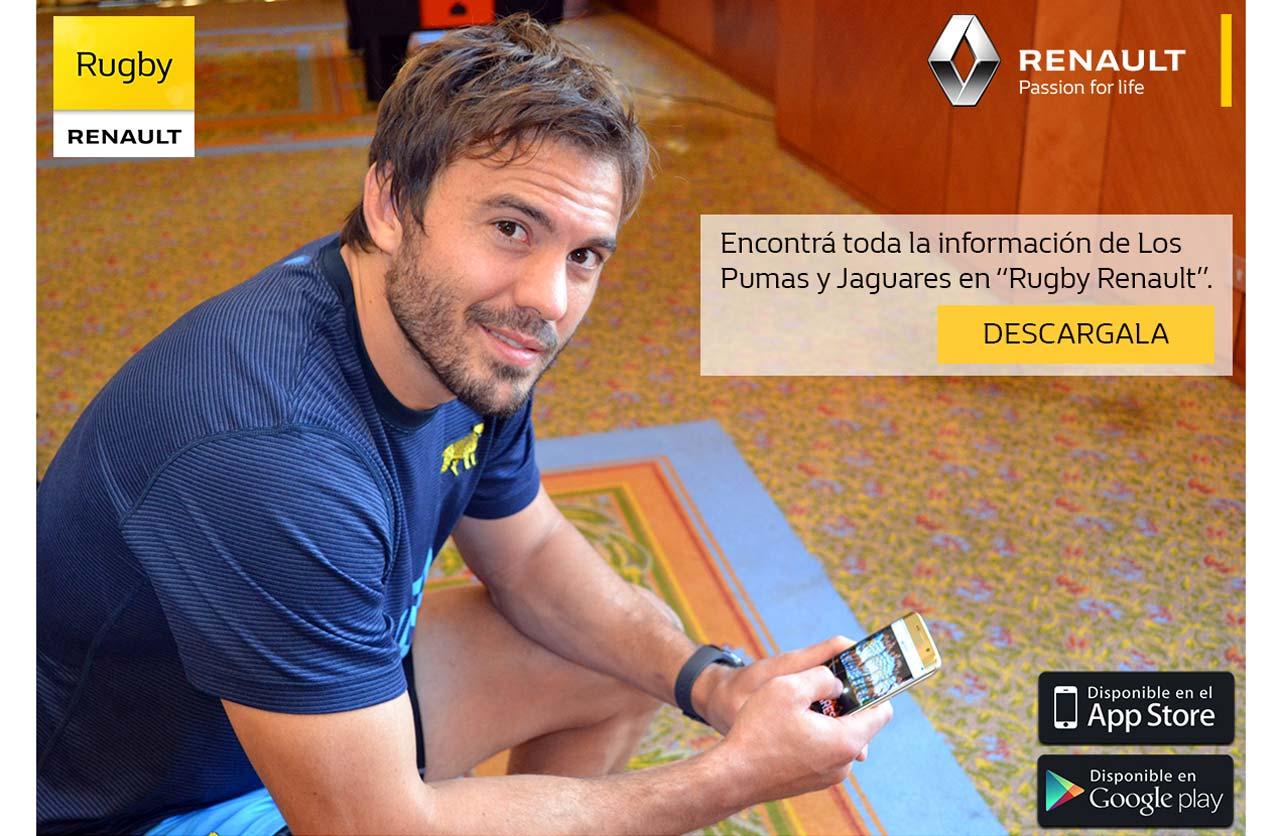 """""""Rugby Renault"""", la aplicación para los fanáticos del deporte"""