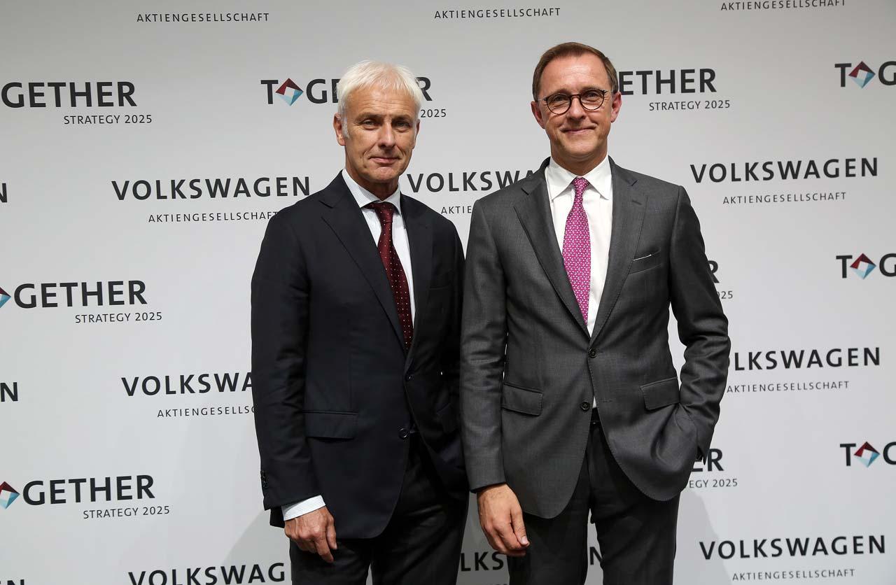 Matthias Muller y T Sedran VW AG Together Estrategia 2025