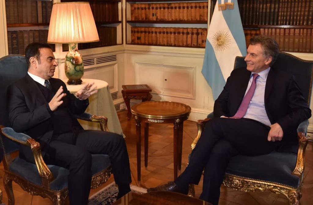 Mauricio Macri con Carlos Ghosn