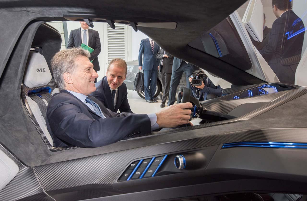 Mauricio Macri en VW Alemania