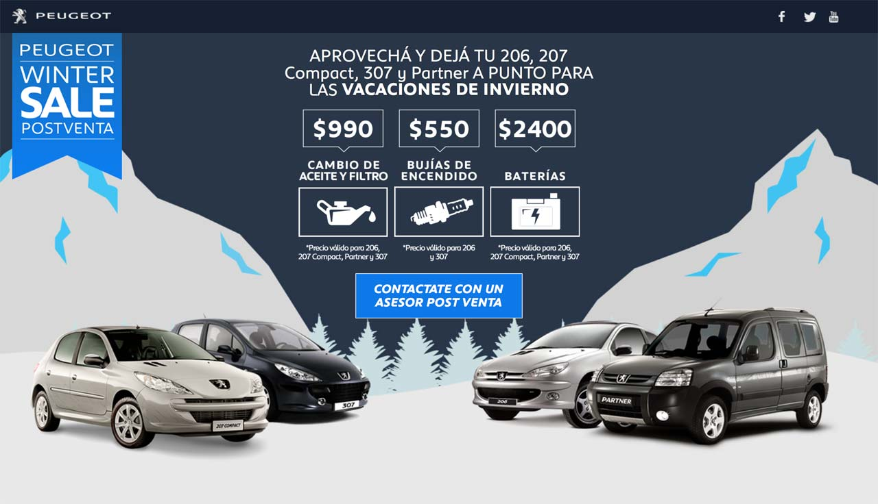 Peugeot Winter Sale Postventa