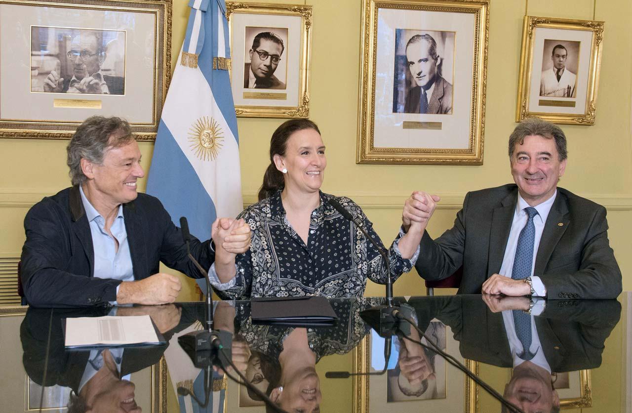 Francisco Cabrera, Gabriela Michetti, Daniel Herrero