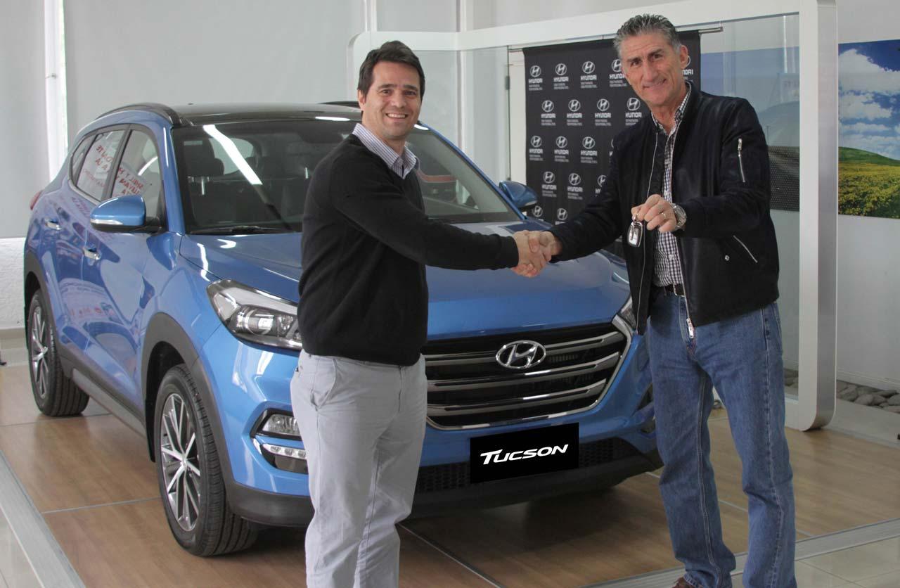 """El """"Patón"""" Bauza eligió la nueva Hyundai Tucson"""