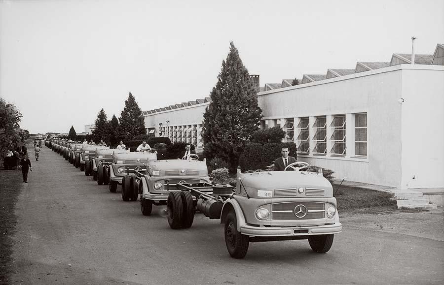 Los primeros chasis de buses Mercedes-Benz