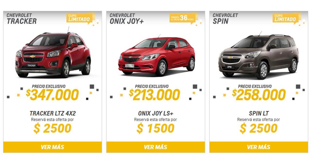 Chevrolet tienda online