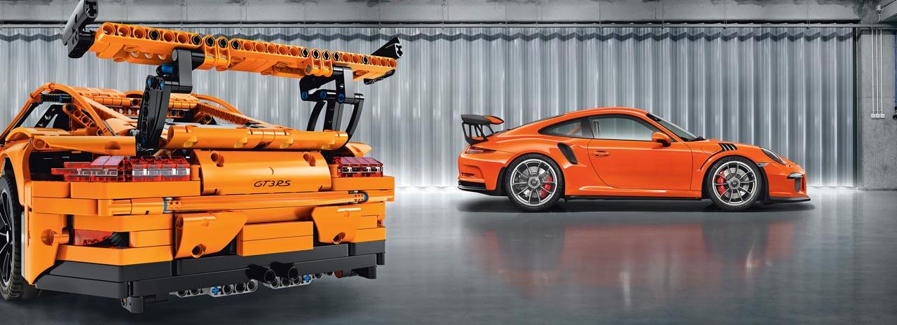 Porsche GT3 RS lego vs real