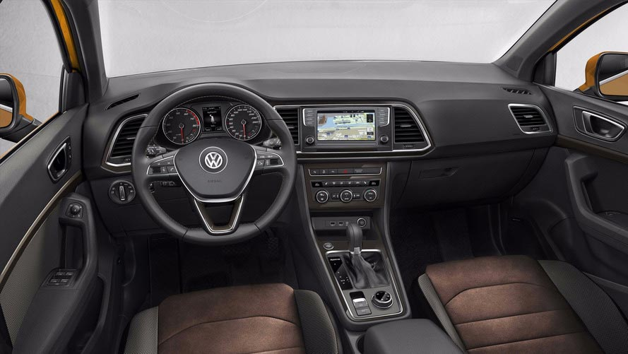 Interior Volkswagen SUV chico (T-Cross)