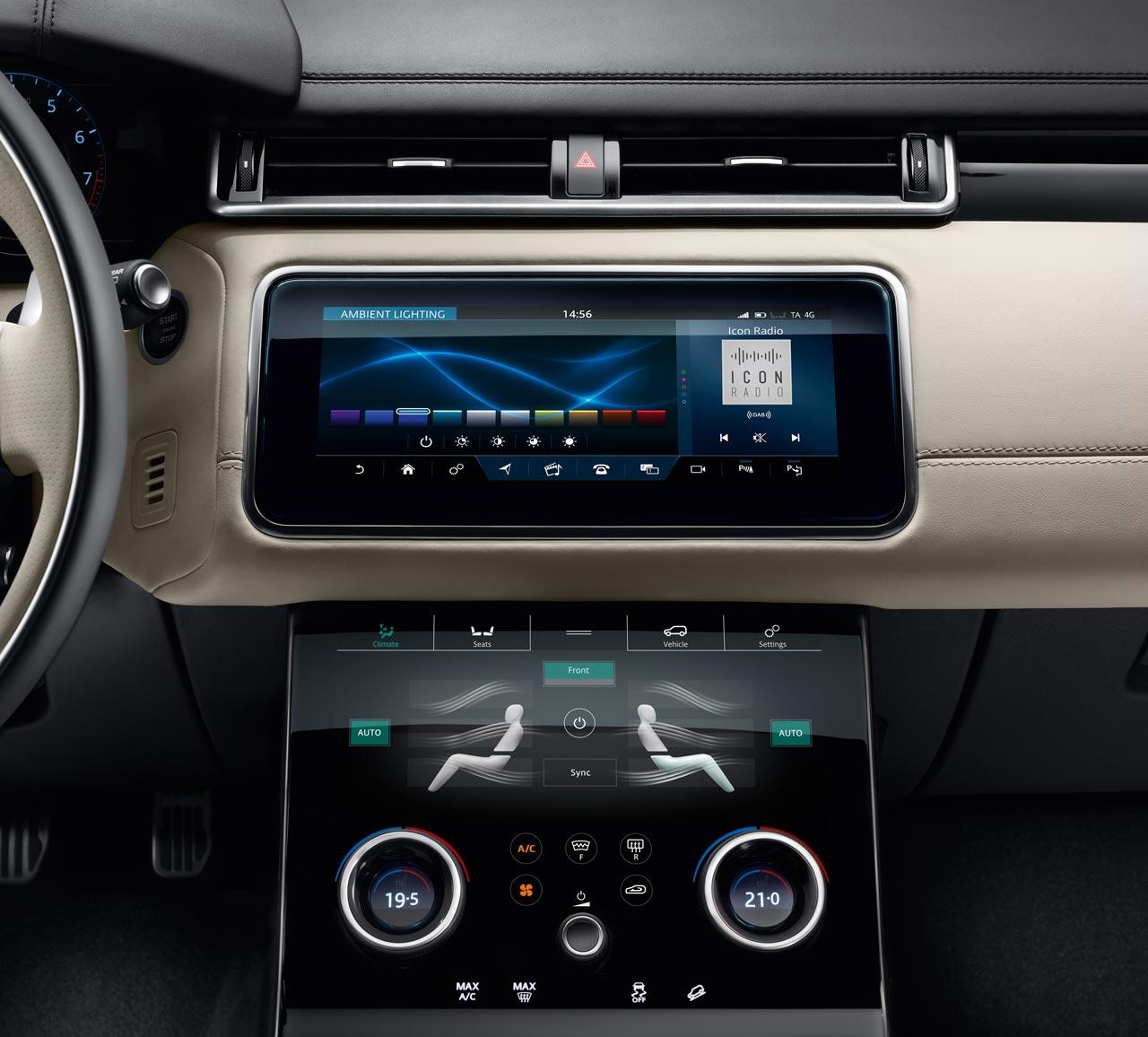 Consola Range Rover Velar