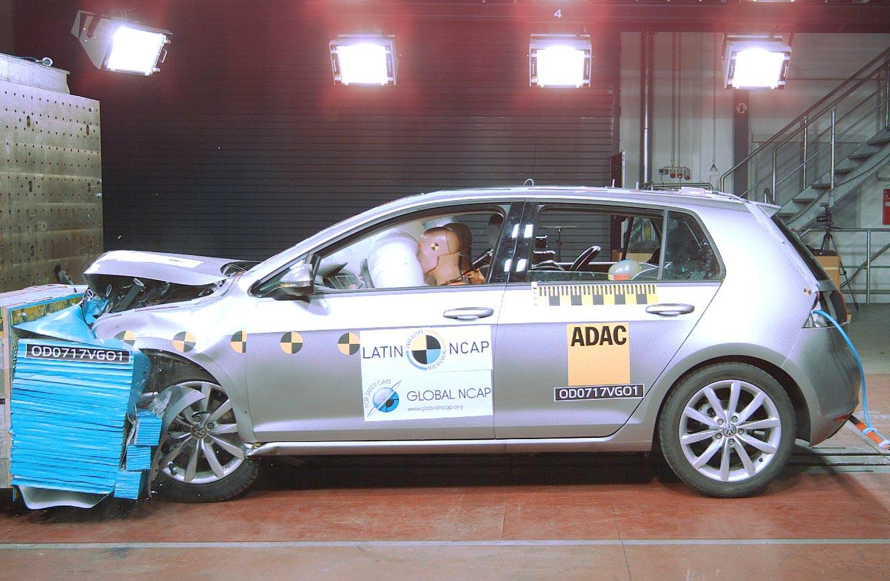 Latin NCAP resultados VW Golf VII Brasil