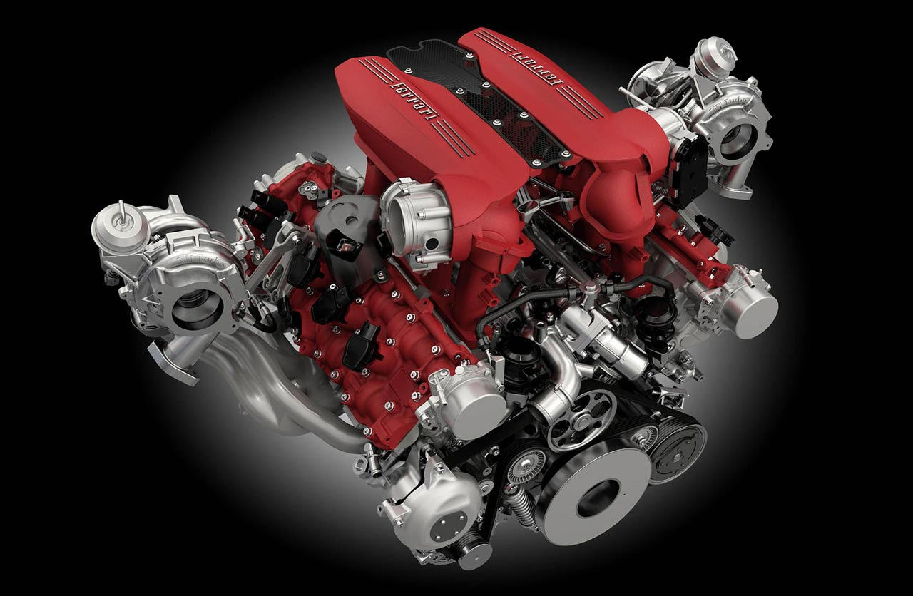 Motor Ferrari V8