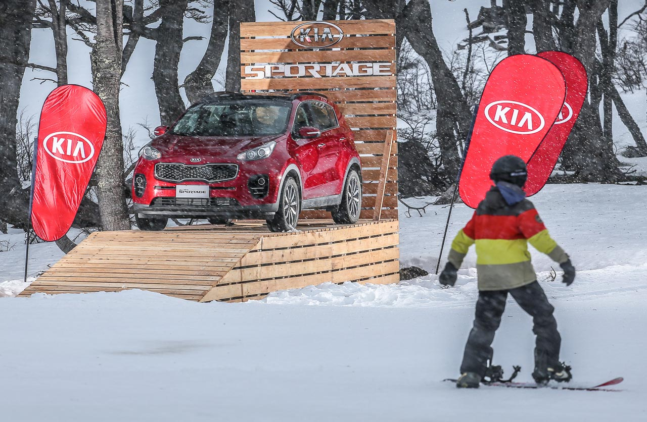 Kia Argentina en el centro de esquí más austral del mundo
