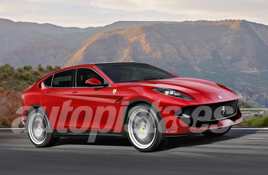 Nuevo anticipo del SUV de Ferrari