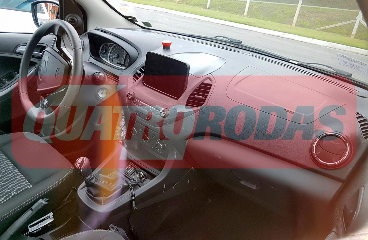 Interior Ford Ka 2018 espía