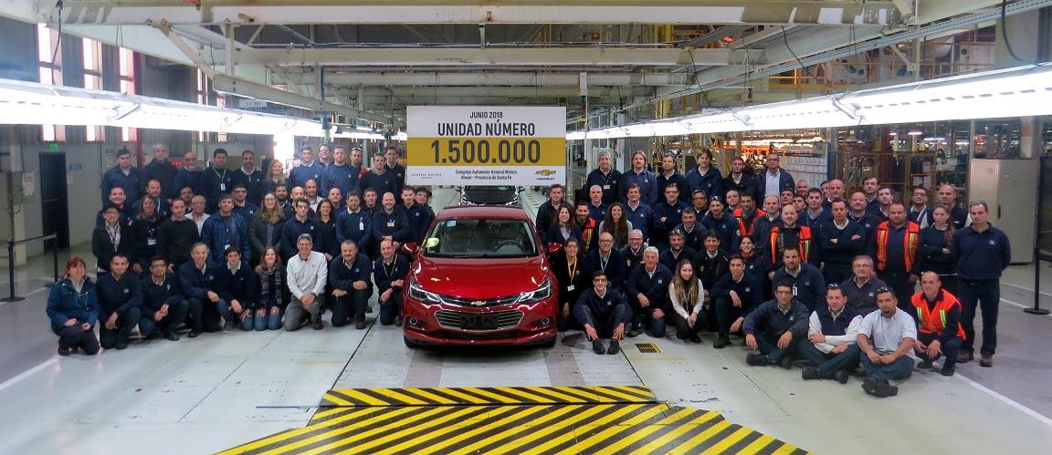 Unidad 1.500.000 fábrica GM Rosario