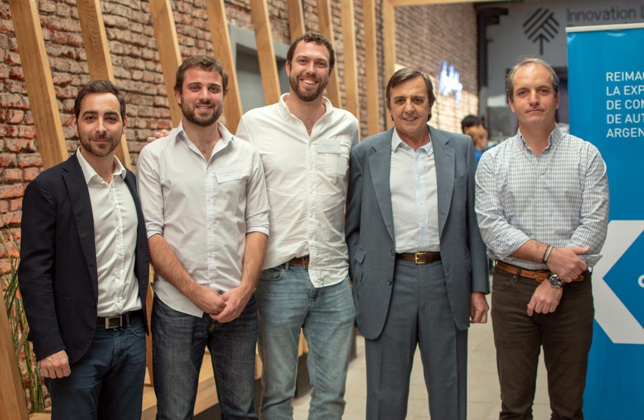 Matias Recchia de Iguanafix, Juan Cruz de la Rúa y Jaime Macaya, cofundadores de Checkars, Luis Ureta Saenz Peña y Arturo Simone de RDA Consulting