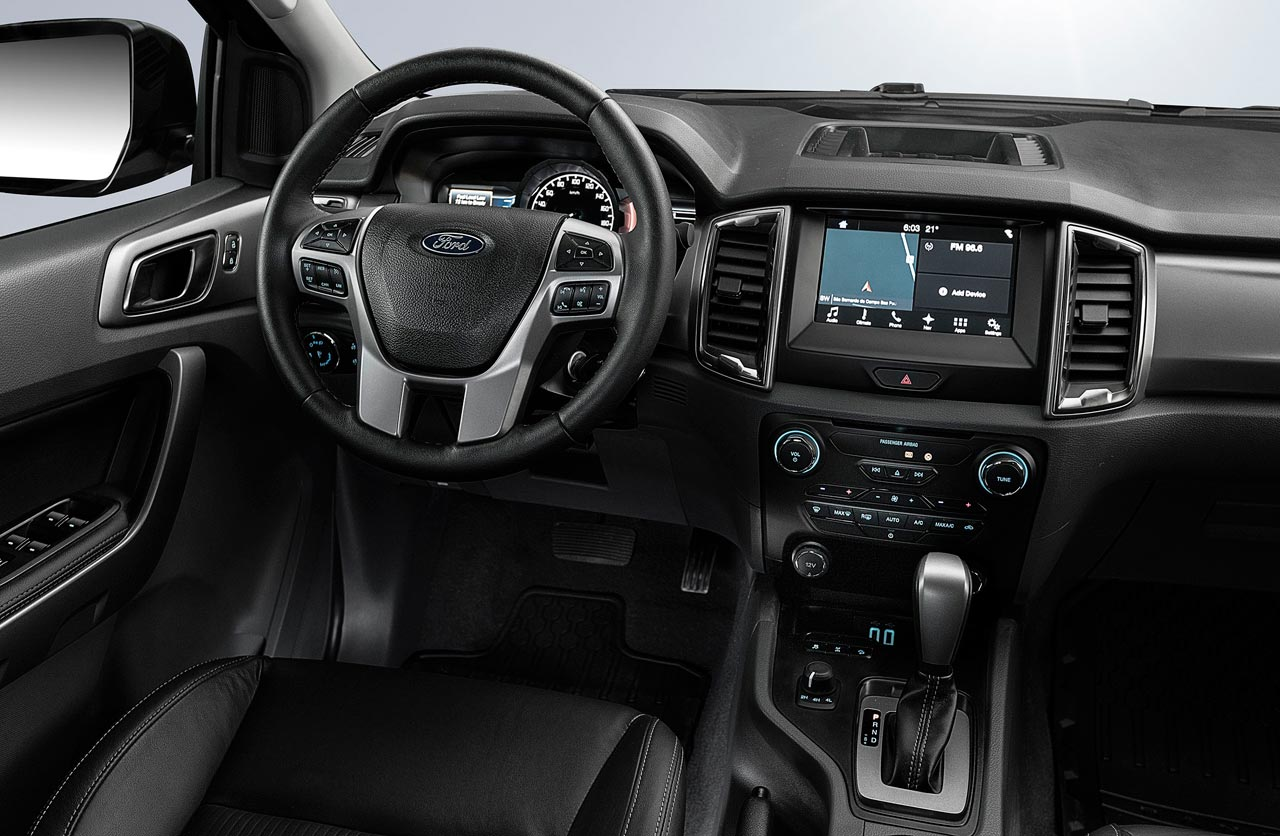 Interior Ford Ranger Black Edition
